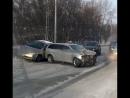 Авария с тремя автомобилями на Винаповском мосту