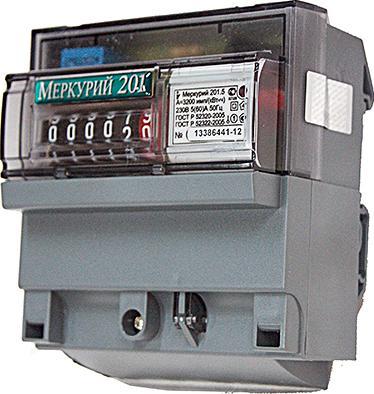 Счетчик Меркурий 1-фазный 1-тарифный 201.5