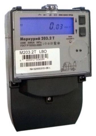 Счетчик Меркурий 1-фазный 2-тарифный 203.2Т