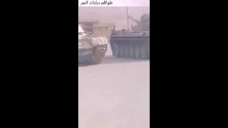 """Боевики """"Джейш аль-Ислам"""" (запрещено в России) сдали сирийским войскам крупную партию бронетехники - 5 танков Т-55, 2 Т-62, 2 Т-"""