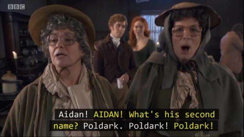 Рождественсая Poldark пародия для комедийного скетч-сериала French and Saunders