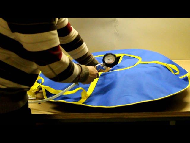 Накачивание санок надувных Ватрушек