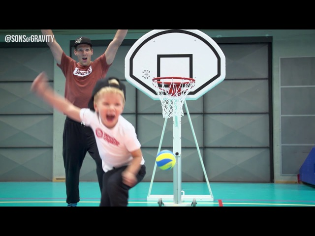 Father and son trickshots | Sons of Gravity