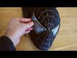 Spider-Man Black Suit Mask with Larger Magnetic Eyes