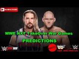 WWE NXT TakeOver WarGames Kassius Ohno vs. Lars Sullivan Predictions WWE 2K18