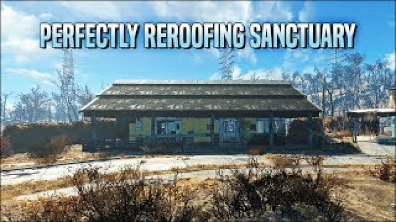 Perfectly Reroofing Sanctuary 🏚️ Fallout 4 No Mods Shop Class