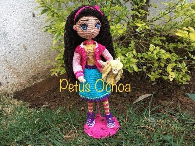Como tejer piernas muñeca Livia SEGUNDA PARTE