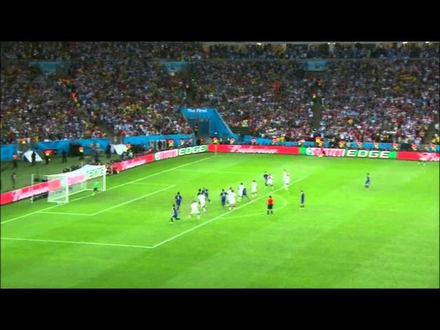 Isso a Globo não mostra, Messi batendo falta na final da copa do Mundo 2014
