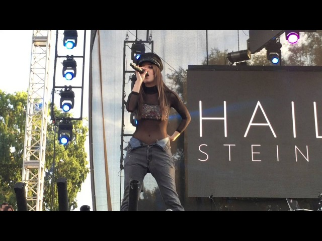 Hailee Steinfeld Covers Justin Bieber's Love Yourself at L.A. Pride Festival