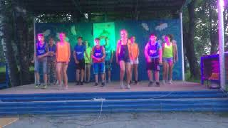 Танец А рыбки в море плавают вот так 4 отряд Лагерь Рекорд 2017
