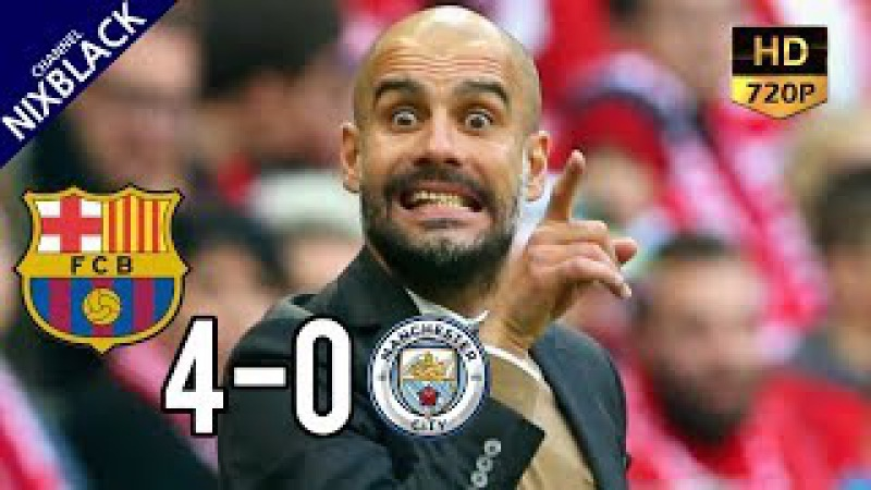 Barcelona 4-0 Manchester City 2016 UCL Group Stage All Goals Extended Highlight HD/720P