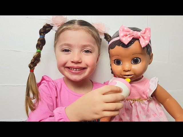 Morning Routine new doll Luvabella Eating and Playing Are you sleeping brother John Songs for kids