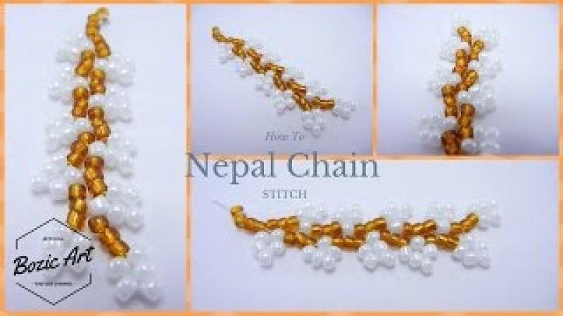 🔰 Nepal Chain Stitch - Beaded Bracelet   How To Tutorial
