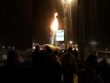 Южно-сахалинск загорелась ёлка на площади в новый год