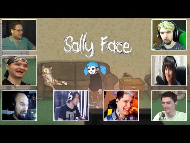 Реакция Летсплейщиков на Кота Салли при Прохождении Игры Sally Face Ep 2