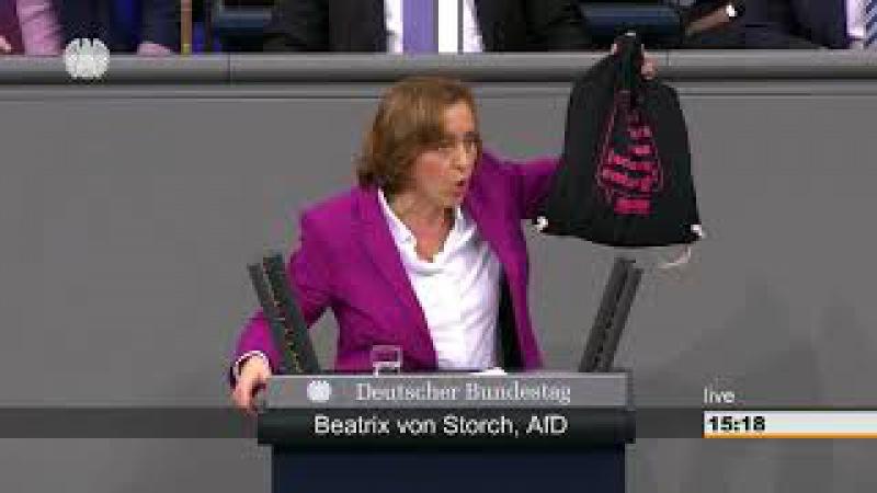 Beatrix von Storch AfD wettert nicht schlecht über die Linken Fraktionen im Bundestag
