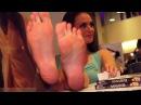 Beautiful lady feet show