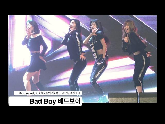 레드벨벳 Red Velvet[4K 직캠]Bad Boy 배드보이,서울호서직업전문대 입학식 축하공연@180302 락48
