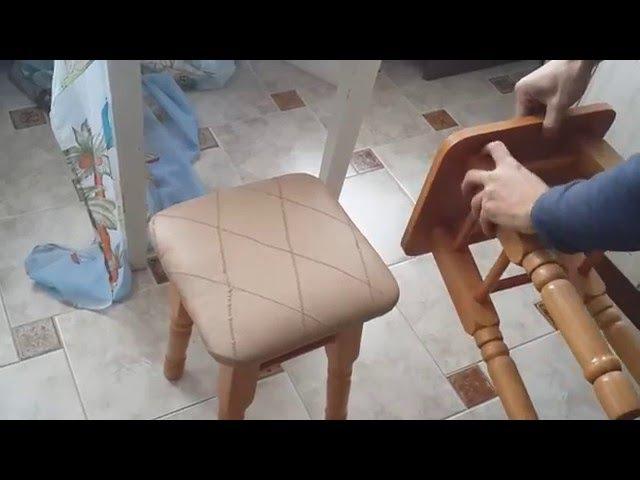 Перетяжка стільця власними руками/ Оббивка стула своими руками/ How to Upholster a Chair Seat