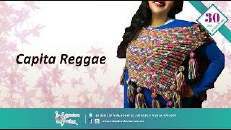 Cómo tejer fácil una capita en agujas - Capa Reggae Estambres Karina Alize