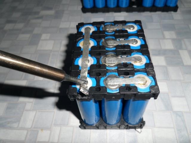 Метод пайки 3,7V Li-ion батареек, в АКБ систему - ожидания оправданны...