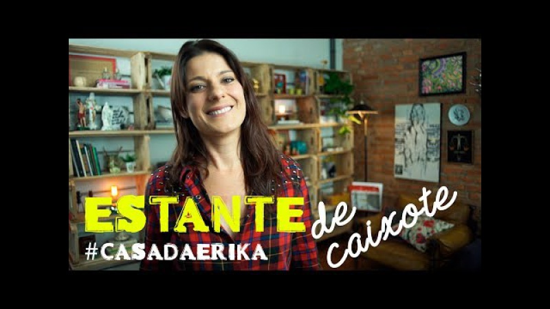 ESTANTE COM CAIXOTE DE FEIRA casadaErika