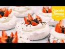 Mini Oreo Pavlovas with Malted Cream and Strawberries Cupcake Jemma
