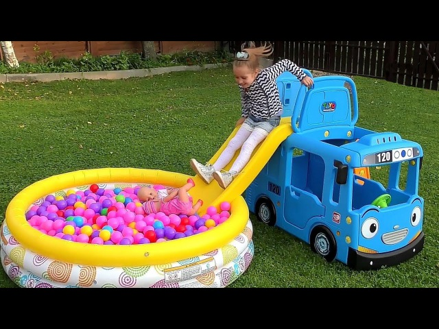 Wheels On The Bus Tayo Little Bus Nursery Rhymes Songs for Kids Children Babies Learn colors Baby
