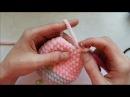 Зефирный зайчик 40см крючком. из плюшевой пряжи. мастер класс по вязанию игрушек крючком