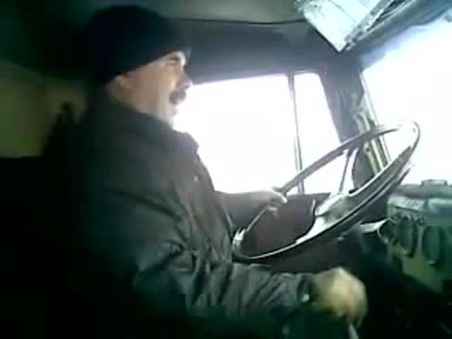 Russian Car Driver Краз