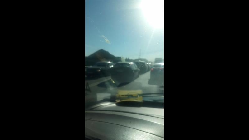 авария на мосту объездной Гатчины между пригородным и колпанами