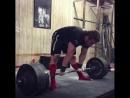 Эндрю Хаус - тяга 360 кг (107 кг) в 19 лет
