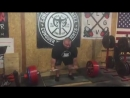 Джош Моррис - тяга 370 кг без экипировки