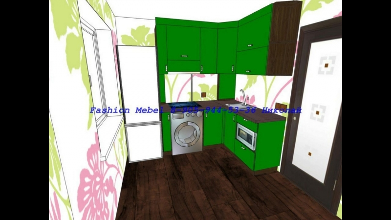 Маленькая кухня.Fashion mebel Омск.Мебель на заказ кухни,шкафы-купе.