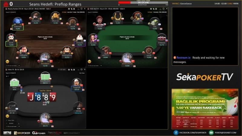 Seyranli On Air! Klas Network 10-20TL Teksas Hold'em - Paralı Poker