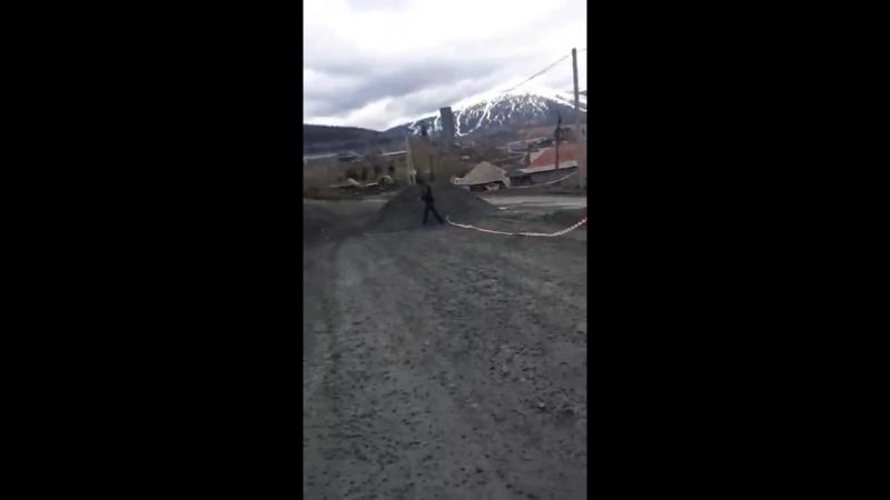 В Шерегеше чиновники пересыпают дороги к приезду и.о.губернатора