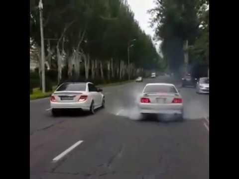 Драг в Бишкеке TOYOTA CHASER TOURER V VS MERCEDES-DENZ C 6.3 AMG
