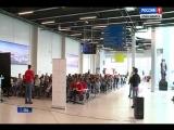 В аэропорту Толмачёво Тотальный диктант провёл Андрей Бочаров