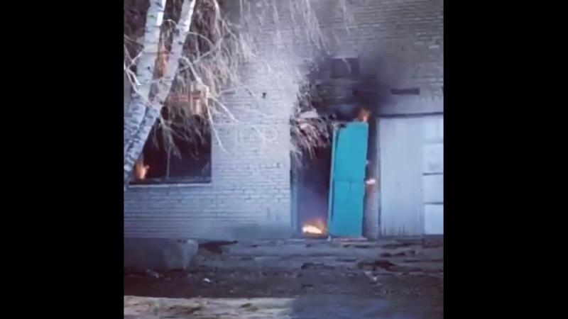 Пожар в заброшенном клубе Даньшино