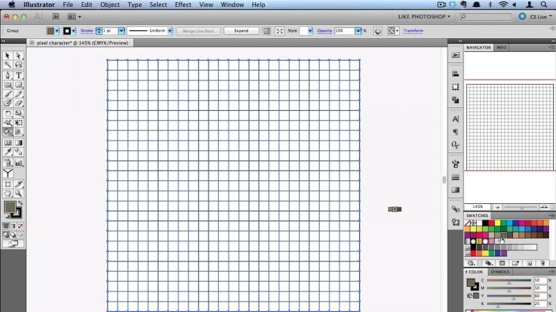 Пиксельарт в иллюстраторе