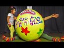 Giant Egg Surprise Play Doh Funny baby Гигантское яйцо Плей До
