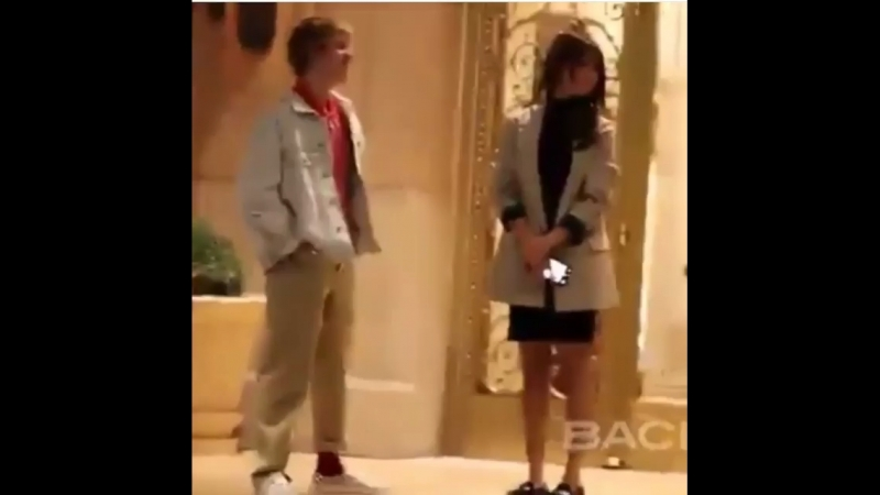 Justin and Selena at the Montage hotel in Beverly Hills, California