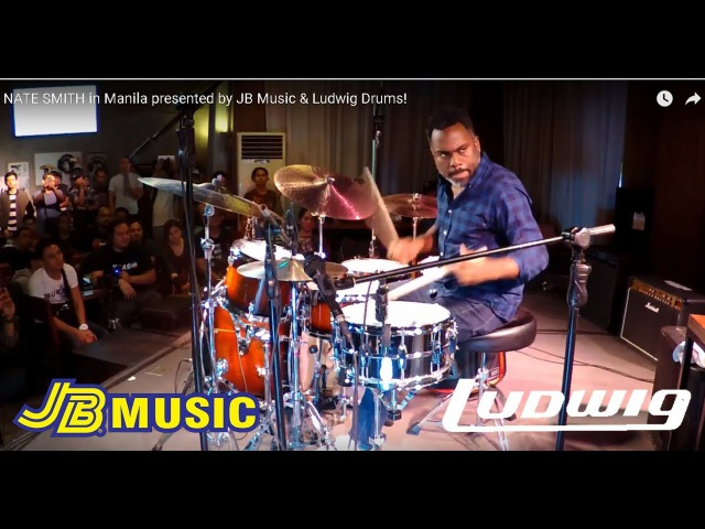 NATE SMITH in Manila presented by JB Music Ludwig Drums!