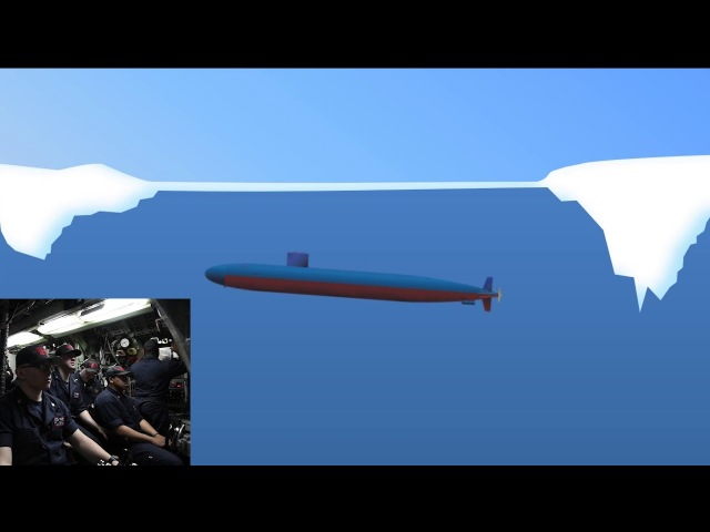 USS Hartford Surfaces Through Arctic Ice