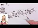Мехенди, усложняем рисунок рисуем веточку