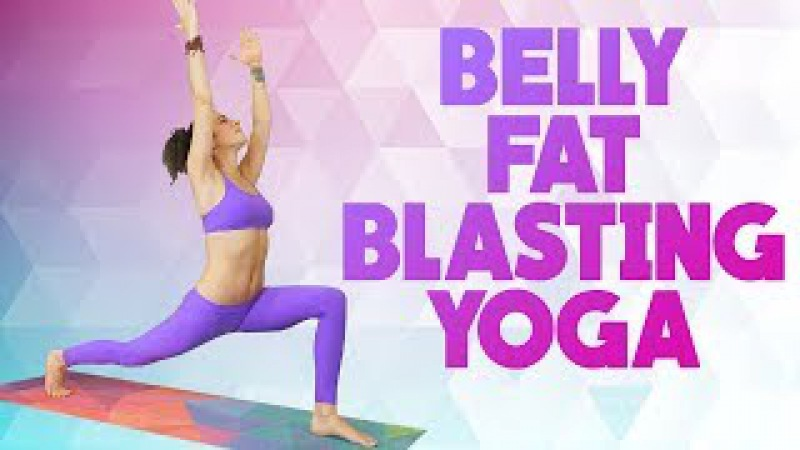 Bye Bye Belly Fat ♥ 20 Min Yoga Class with Jess | Beginners Abs Core Workout at Home