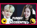 KPOP IDOLS FUNNY EMBARRASSING ACCIDENTS AND MOMENTS PT1 BTS EXO GOT7 TWICE ETC 50k SUBS