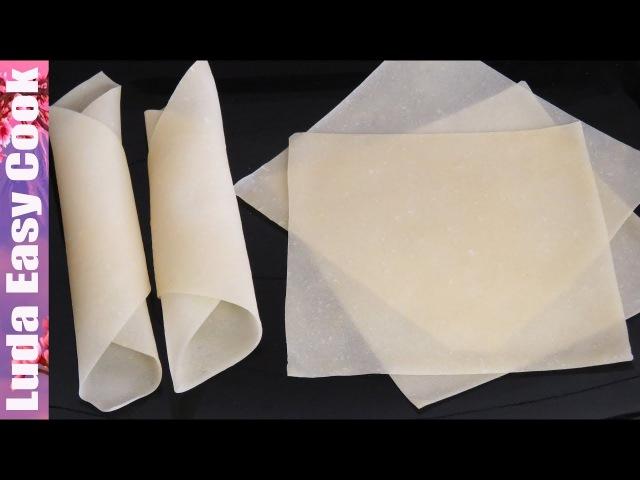 Секрет ТЕСТА для азиатских ЖАРЕНЫХ РОЛЛОВ! Самый простой рецепт! | SPRING ROLL SHEETS RECIPE