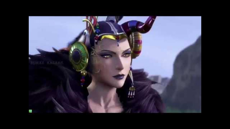 Edea - Dissidia Final Fantasy NT - Ultimecia alternate outfit intro, Summon and Winning