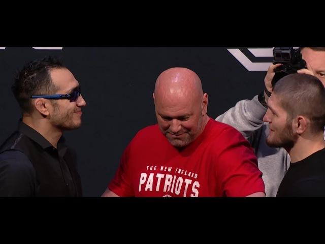 Tony Ferguson vs Khabib Nurmagomedov Staredown l UFC 223